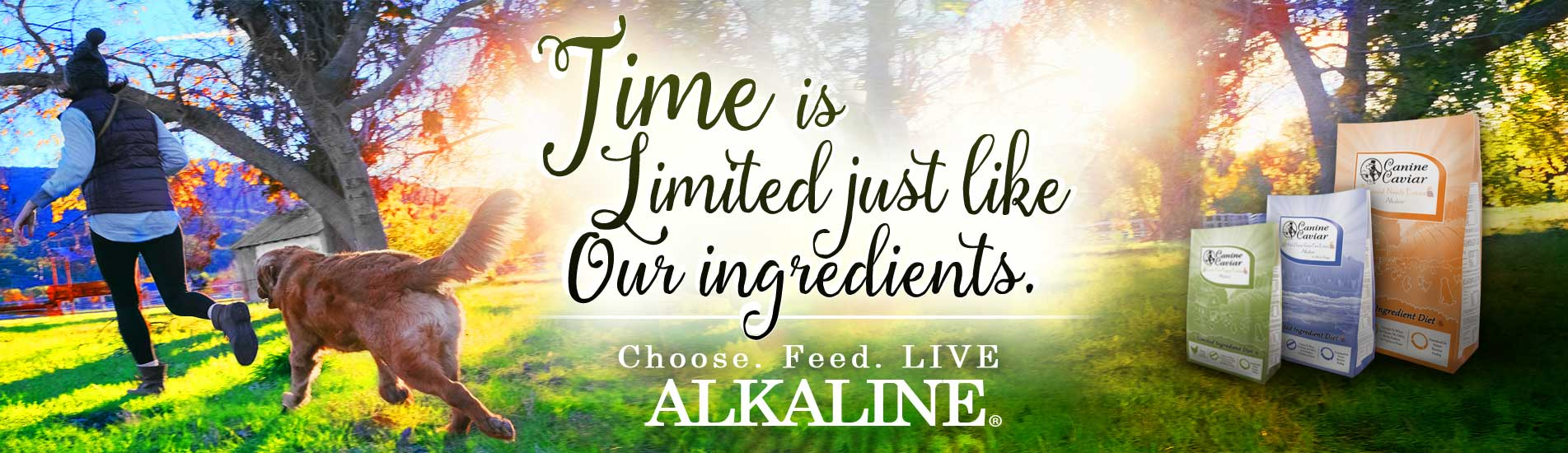 Canine Caviar Pet Foods Inc. Homeapge - The First And Only Alkaline Dog Food
